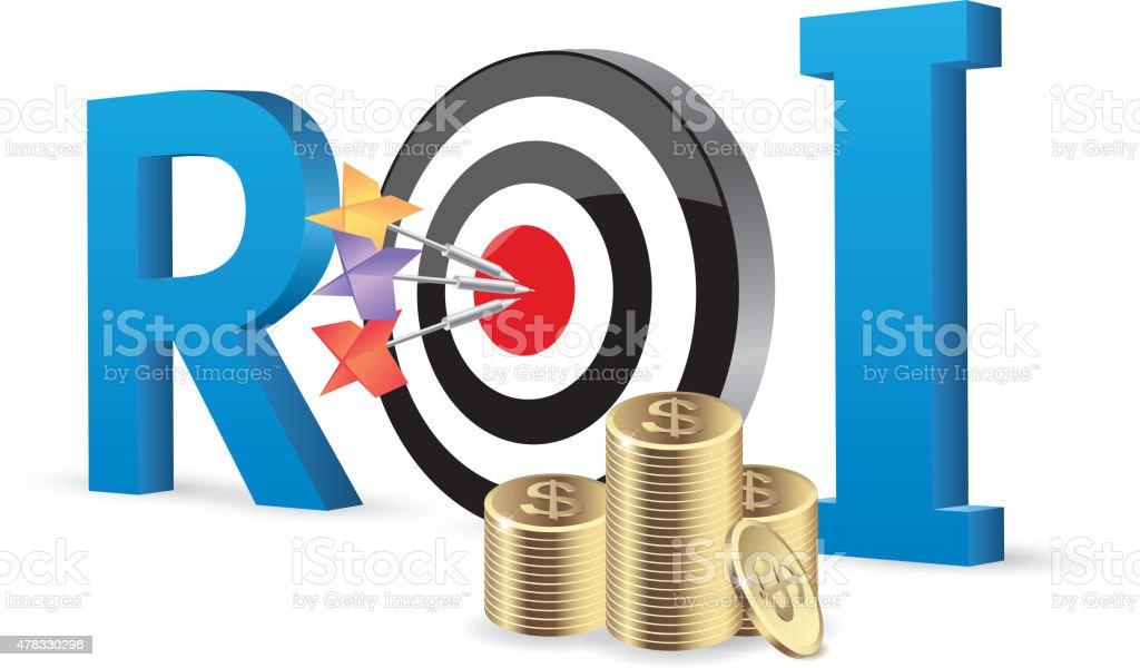 Return on investment vector art illustration