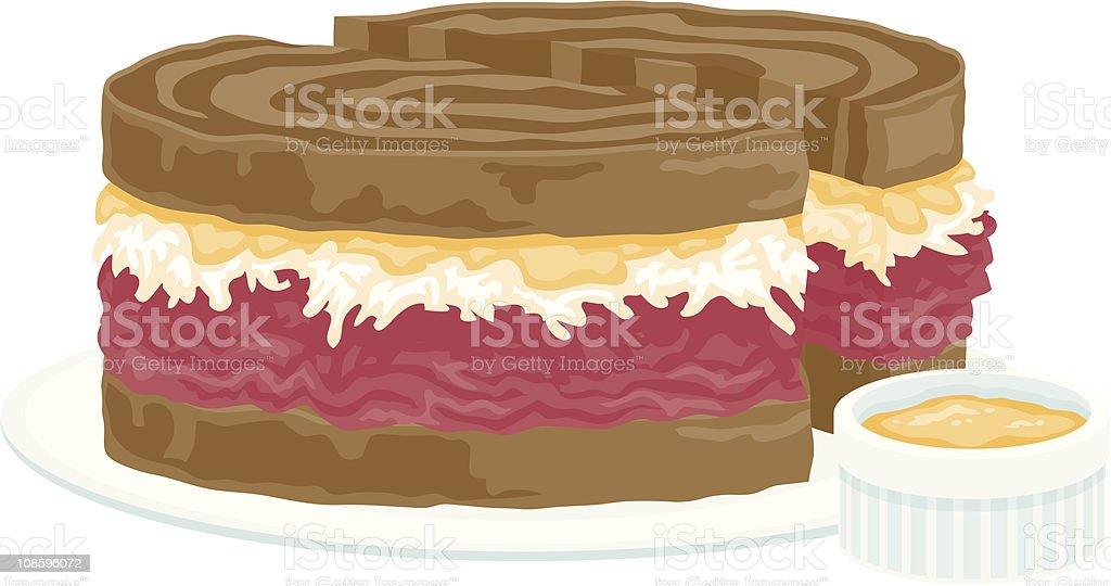 Reuben Sandwich vector art illustration