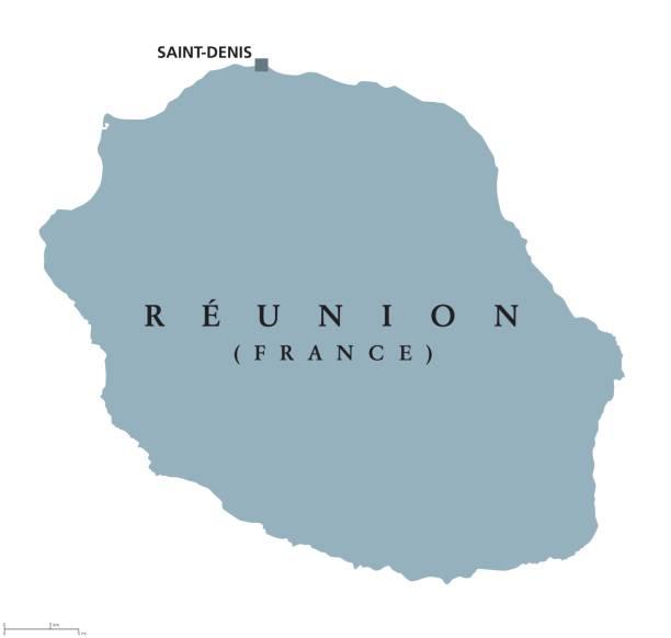 reunion political map - reunion stock illustrations, clip art, cartoons, & icons