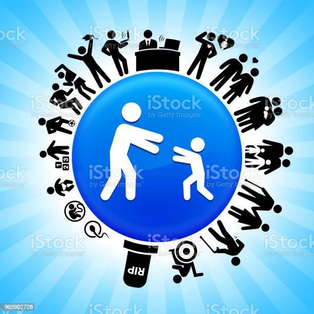Reunited Family Lifecycle Stages Of Life Background - Arte vetorial de stock e mais imagens de Adolescente