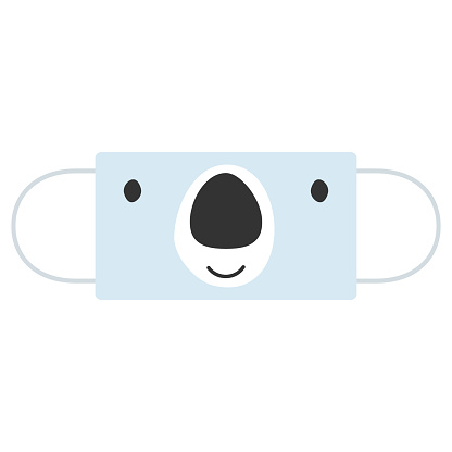 Reusable mouth kids funny mask with koala face