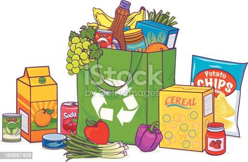 Reusable Overflowing Grocery bag