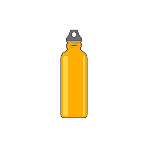 illustrations, cliparts, dessins animés et icônes de illustration vectorielle de bouteille d'eau réutilisable - bouteille d'eau