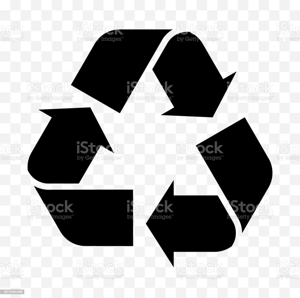 reuse, recycled icon vector art illustration
