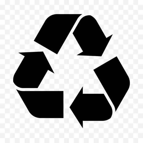 reuse, recycled icon - recycling stock illustrations