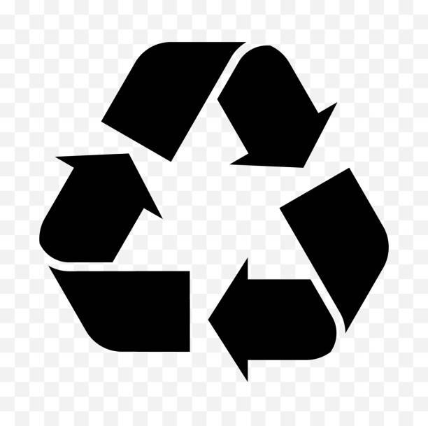 wiederverwendung, recycling symbol - recycling stock-grafiken, -clipart, -cartoons und -symbole