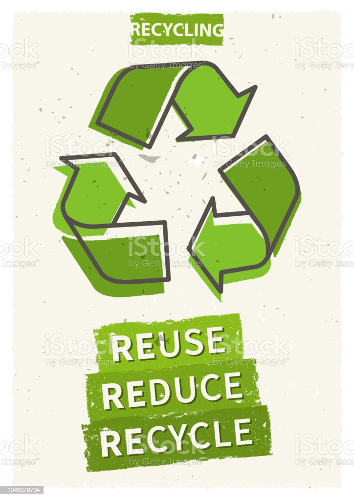 Reuse reduce recycle vector illustration vector art illustration