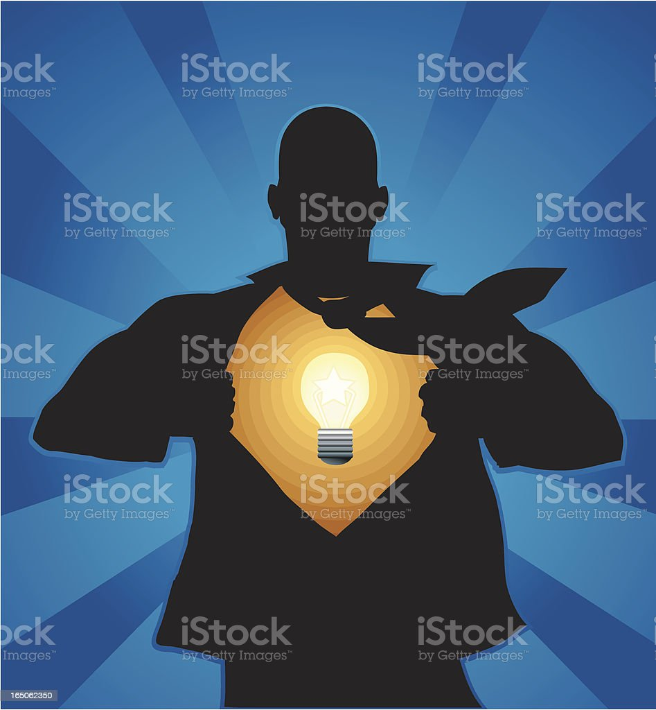 Reveal your ideas vector art illustration