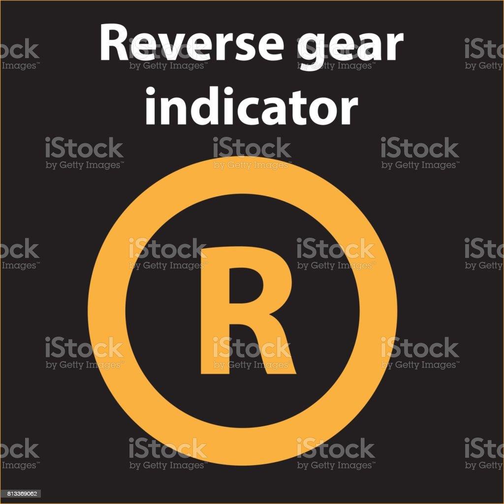 Reverse Gear Icon Indicator Vector Illustration Stock Illustration