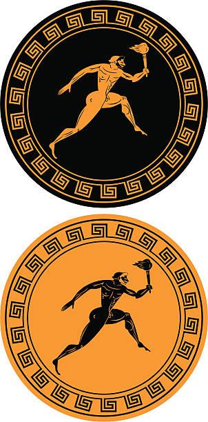 Reverse images of orange and black . flame vector art illustration
