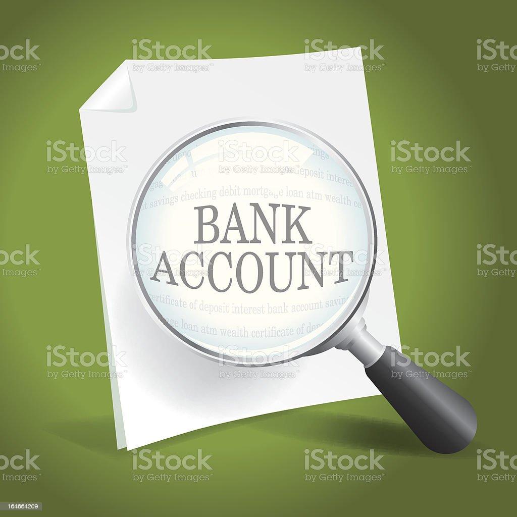 Reviewing Financial Records vector art illustration