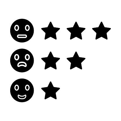 Reviews, feedback, rating black icon