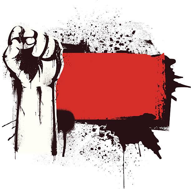 ilustrações de stock, clip art, desenhos animados e ícones de revolução banner - furioso