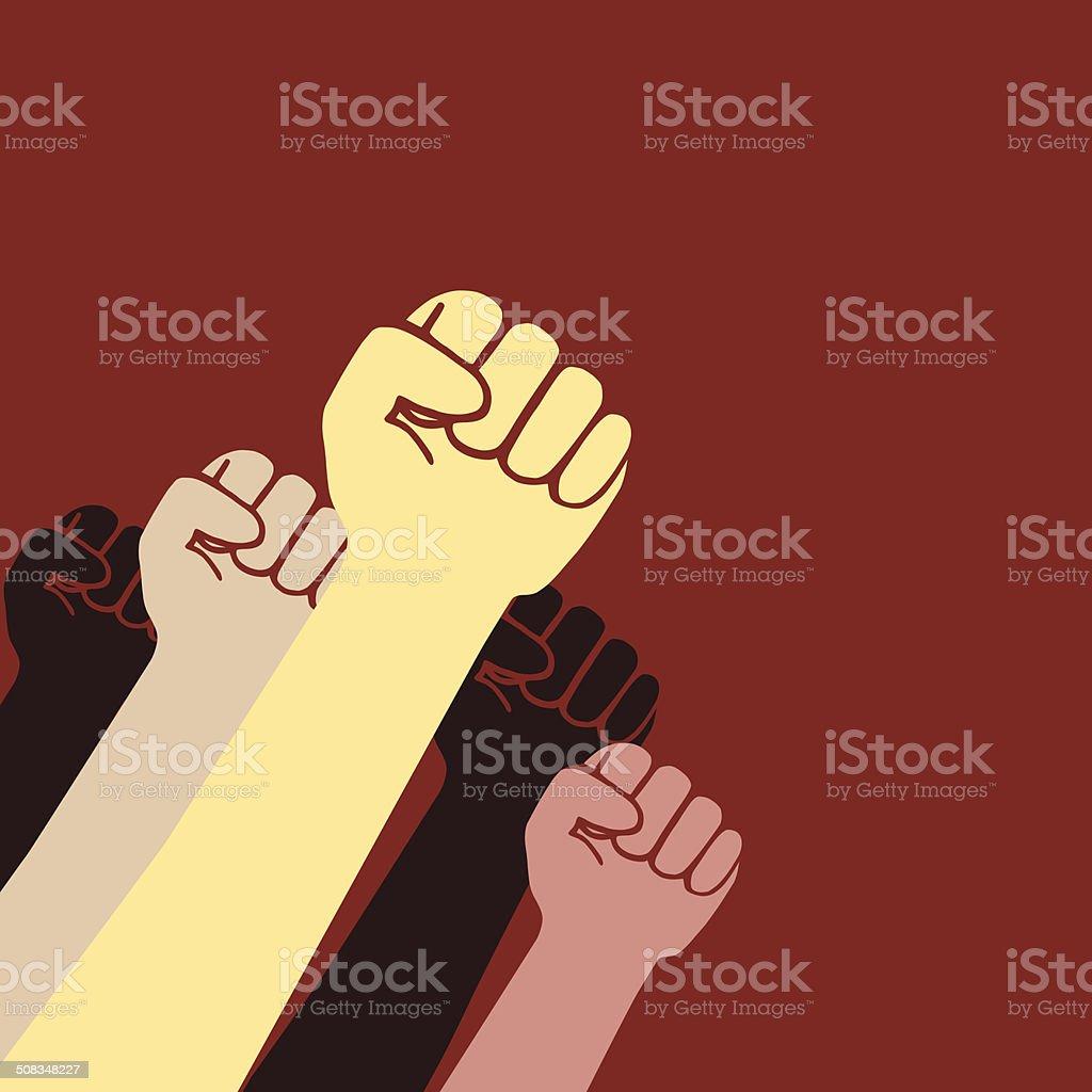 Revolution fist vector art illustration
