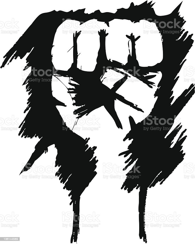 Revolution Hand royalty-free stock vector art