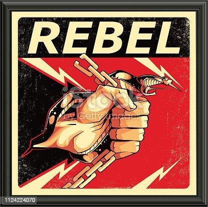 Rebel design in vector. eps8