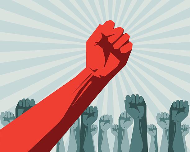 Revolution vector art illustration