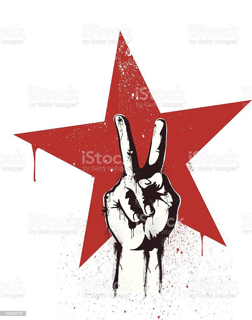 revolution victory vector art illustration