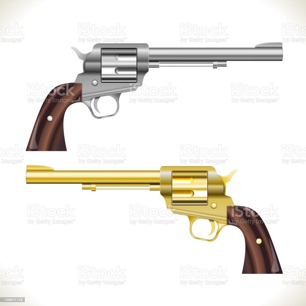 Revolver Guns royalty-free revolver guns stock vector art & more images of barrel