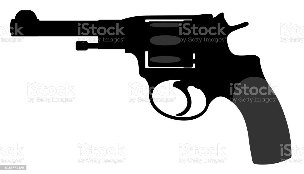 revolver nagant pistol vector silhouette gun weapon stock illustration download image now istock revolver nagant pistol vector silhouette gun weapon stock illustration download image now istock