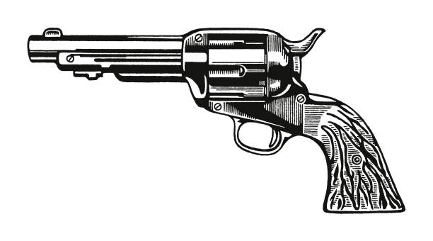 Revolver Revolver pistol stock illustrations