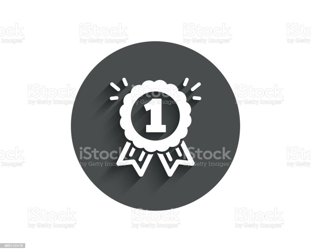 Reward Medal simple icon. Winner achievement. royalty-free reward medal simple icon winner achievement stock vector art & more images of achievement