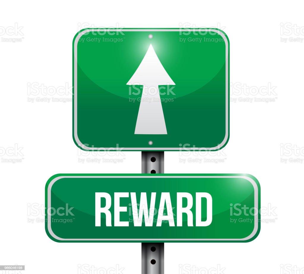reward sign destination. Vector Illustration. - Royalty-free Abstrato arte vetorial