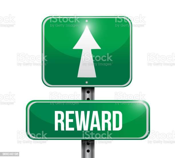 Reward Sign Destination Vector Illustration - Arte vetorial de stock e mais imagens de Abstrato