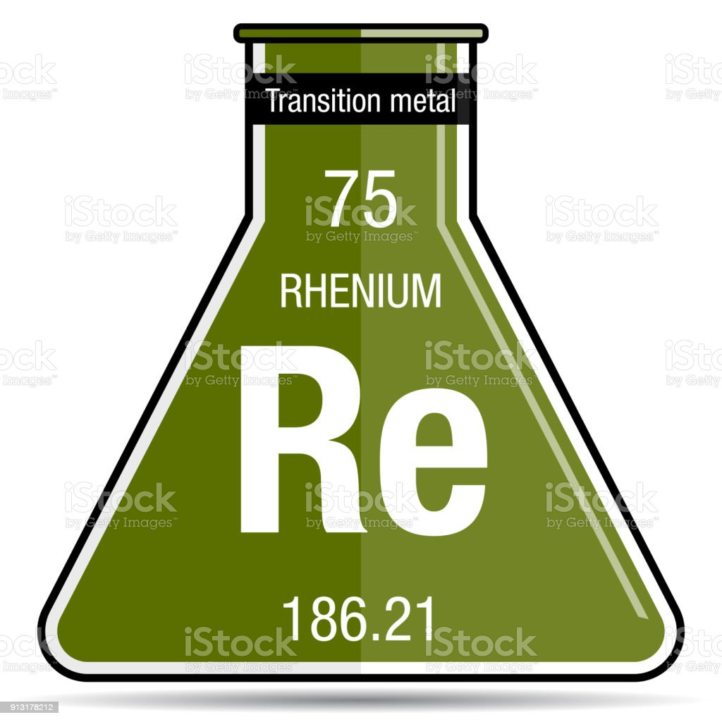 Rhenium symbol on chemical flask element number 75 of the periodic rhenium symbol on chemical flask element number 75 of the periodic table of the elements urtaz Gallery