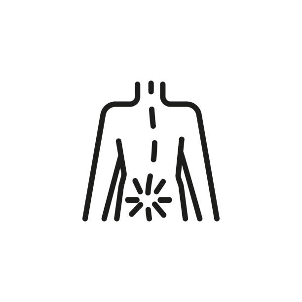 Rheumatism icon. Linear style illustration vector art illustration