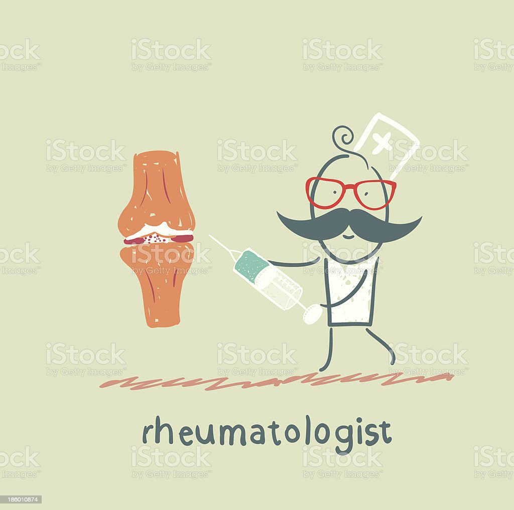 rheumatologist with a syringe in his hand royalty-free rheumatologist with a syringe in his hand stock vector art & more images of adult