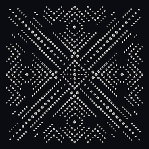 rhinestone applique print for textile clothes in fashion luxury - modeschmuck stock-grafiken, -clipart, -cartoons und -symbole