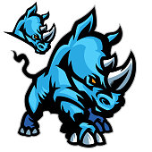 This rhino is charging to victory. A great addition to any spart based design.