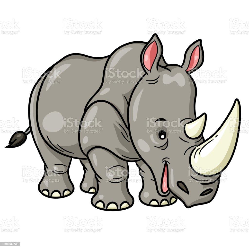 Rhino Cute Cartoon royalty-free rhino cute cartoon stock vector art & more images of africa