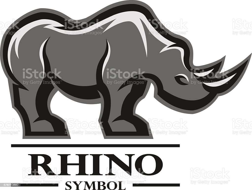 Rhino for the symbol logo labels stock vector art more images of rhino for the symbol logo labels royalty free rhino for the symbol buycottarizona