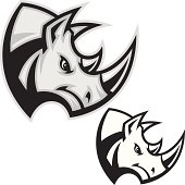 This is an illustration of a simplified Rhino head. An Single Color Rhino version included in this file. All secondary color levels are removable down to a simple flat color image. A BLACK & WHITE version is also available for download. The file is provided as an Illustrator 8 EPS and a 300dpi high-rez jpg.