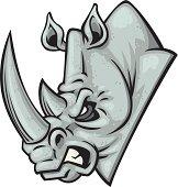 mascot illustration of a rhino head