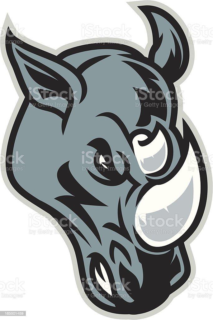 Rhino Headed vector art illustration