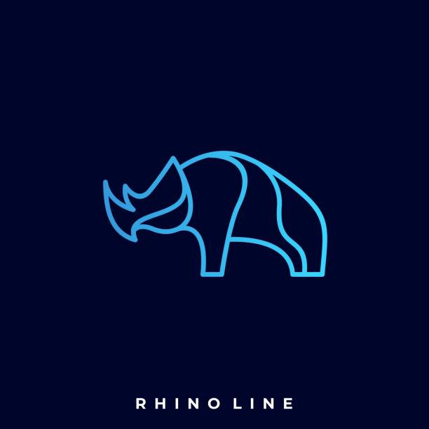 Rhino Illustration Vector Template Rhino Illustration Vector Template. Suitable for Creative Industry, Multimedia, entertainment, Educations, Shop, and any related business. giant fictional character stock illustrations