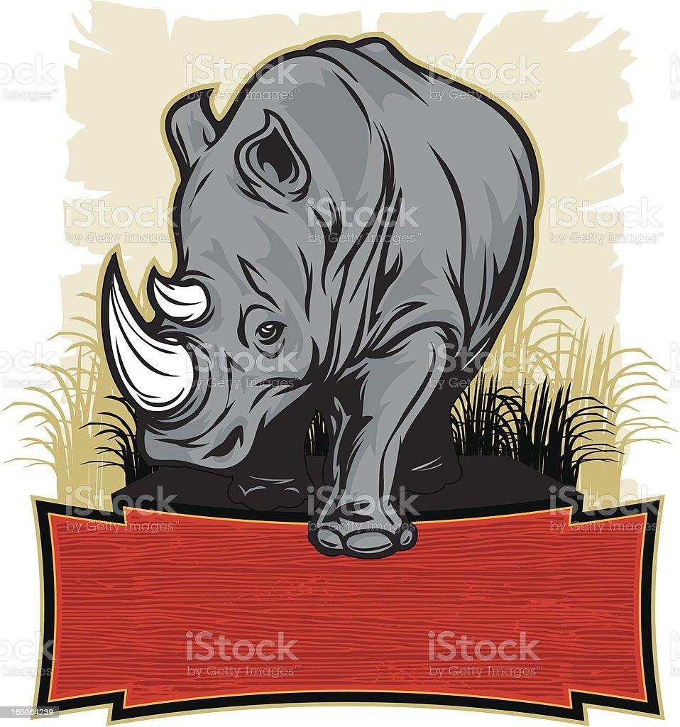 Rhino Stomp royalty-free stock vector art