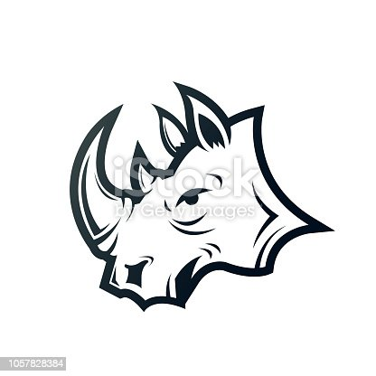 rhino. eps 10 vector file