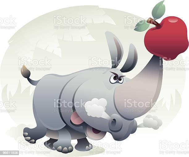 Rhino-vektorgrafik och fler bilder på Aggression