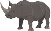 istock Rhinoceros, African safari zoo, hunt wild animal 1220283026