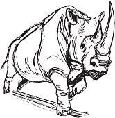 istock Rhinoceros Charging 165641382