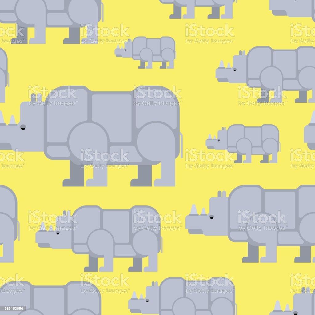 Rhinoceros seamless pattern. Wild beast herd ornament. Animal background royalty-free rhinoceros seamless pattern wild beast herd ornament animal background stock vector art & more images of animal