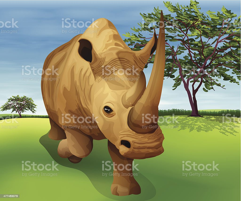 Rhinoceros royalty-free stock vector art