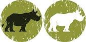Rhinoceros Silhouette,