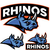 This Rhino is an aggressive stance ready to take one your gym design.