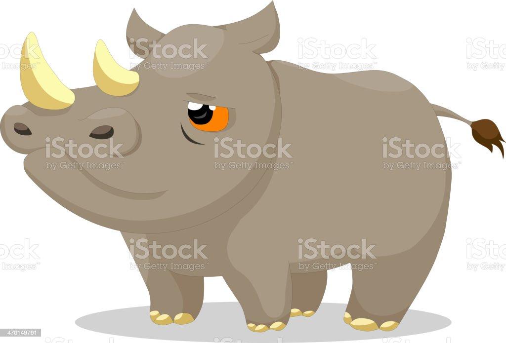 Rhinos royalty-free stock vector art