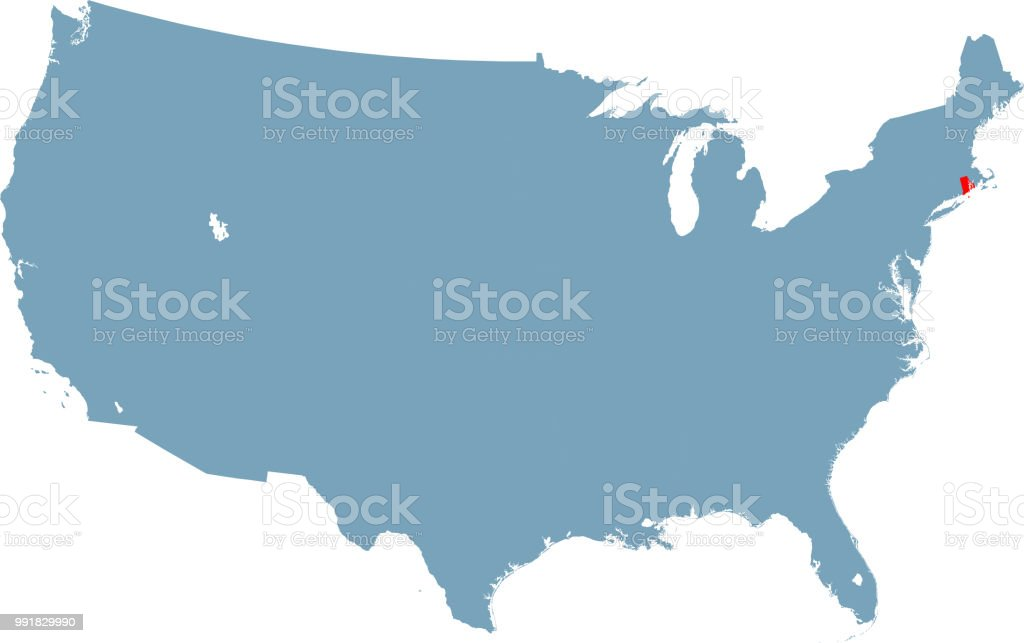 Rhode Island Map Stock Vector Art & More Images of Cartography ...